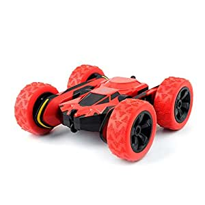 Toys for 6-12 Year Old Boys RC Stunt Car for Kids and Adults 4WD Off Road Truck 2.4Ghz Remote Control Vehicle Double Sided 360 Degree Rotating Christmas Birthday Gifts NBC Red