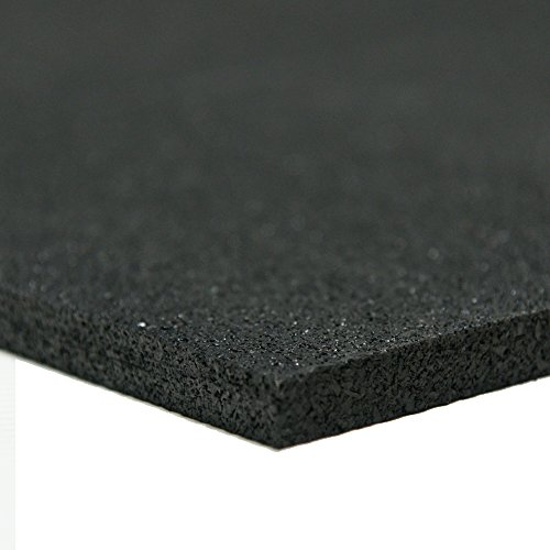 Recycled Rubber - 60A - Rubber Sheets and Rolls - 1/4'' Thick x 4ft Width x 24ft Length - Black by Rubber-Cal