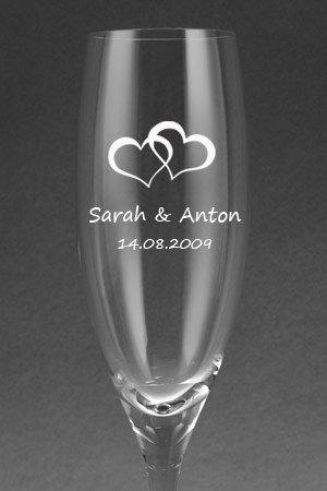 Leonardo Sektglas mit Gravur als Geschenk zur Hochzeit: Amazon.de ...
