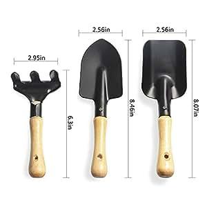 Kit de jardiner¨ªa de 3 piezas palas herramientas de jardiner¨ªa tenedor para Adultos y Ni?os
