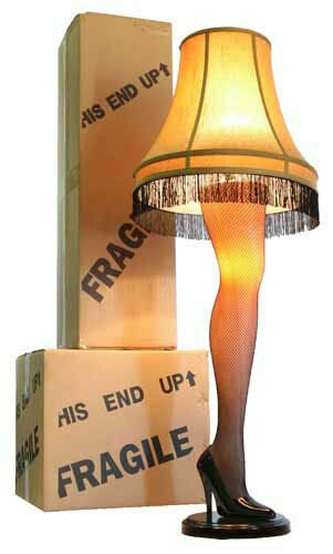 45 Inch Full Size Leg Lamp from A Christmas Story -