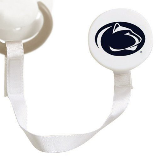 Penn State Nittany Lions White Pacifier Clip