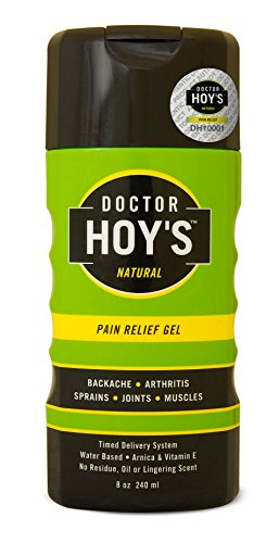 DOCTOR HOY'S Natural Pain Relief Gel - Water based timed Released Menthol for Long Lasting Pain and Inflammation Relief - 8oz ()