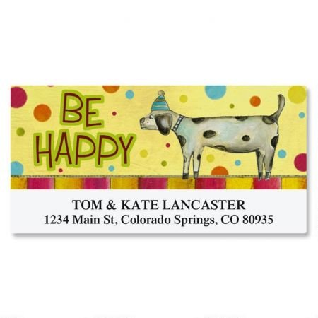 Dog Personalized Address Labels (Birthday Dog Deluxe Address Labels)