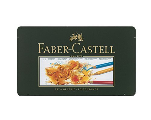 Faber Castell Polychromos Color Colour Pencils Metal Tin Set of 72 by Faber Castell Polychromos