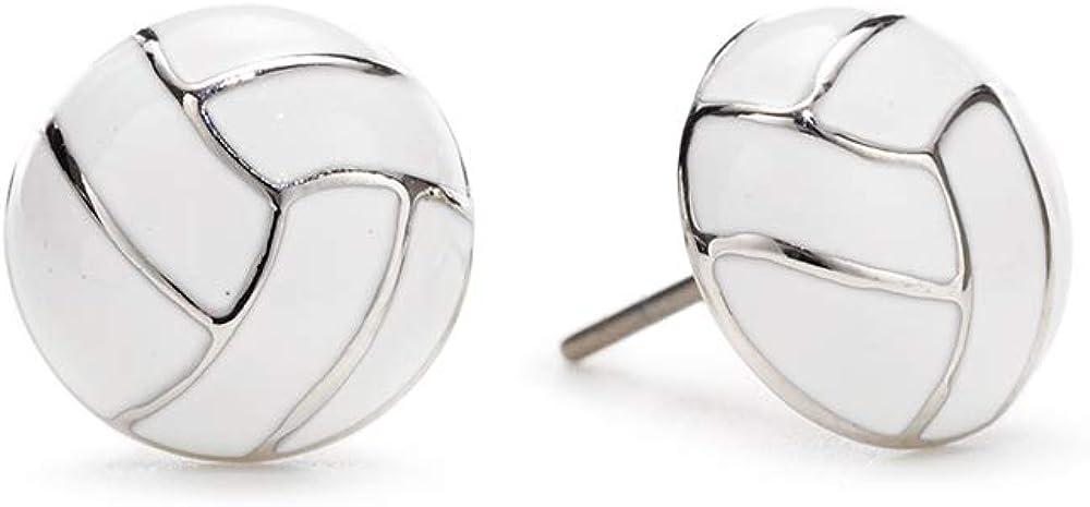 GIMMEDAT Volleyball Enamel Stud Charm Earrings Jewelry Women Girls Player Fan Gift