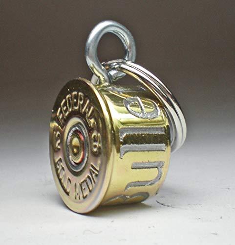 12 Gauge Federal Gold Medal Bullet Engraved Personalized High Brass Genuine Bullet Pet Dog Tag Pet I.D.Tag