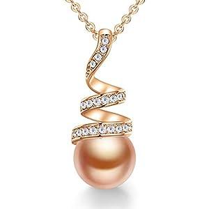 CDE Colliers de Perles pour Femmes Collier en Argent Sterling 925 Only You Collier avec Pendentif en Perles, Bijoux…