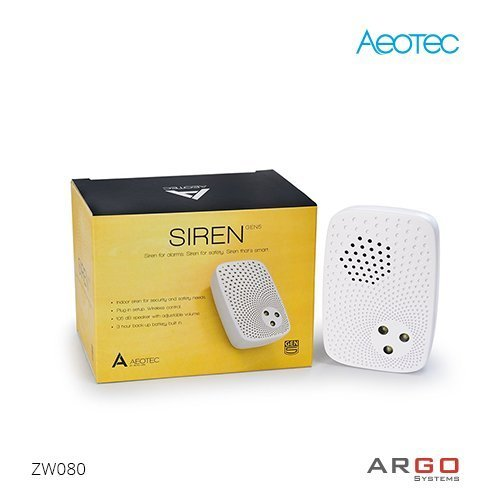 3 X Aeon Labs ZW080-A17 Z-Wave Gen 5 siren for indoors - US freq. by Aeon Labs