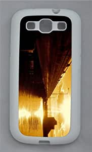 best cases bridge sunset reflection TPU White case/cover for Samsung Galaxy S3 I9300