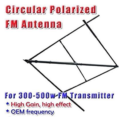 GOWE Circular polarizadas elípticas antena antena FM 300 ~ 500 W + 35 M Cable de
