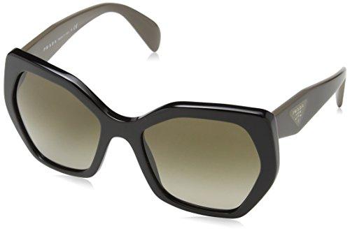 Prada Black PR Sonnenbrille Sonnenbrille Prada 16RS UrwHUBq