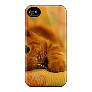 Slim Fit Protector Shock Absorbent Bumper Cute Little Kitty Cases Ipod Touch 4