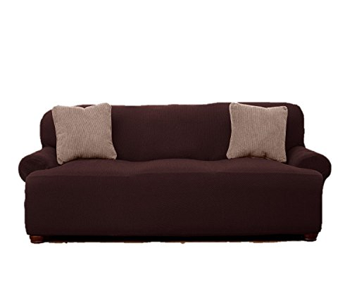 Le' Benton Stretchable Sofa Cover – Brown