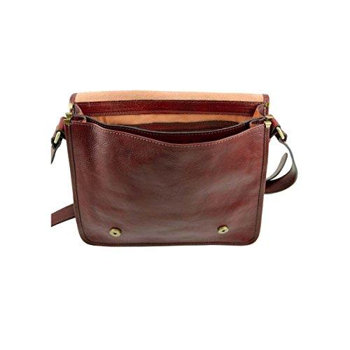 Tuscany Leather - TL Postina - Bolso cartero en piel Marrón oscuro - TL141288/5 Marrón