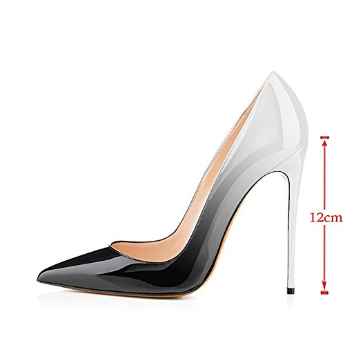 Black Modemoven Party Heels High Silver On Shoes Size Wedding Stilettos Women's Evening Slip Large Pointy Toe Pumps qraPCnwWRq