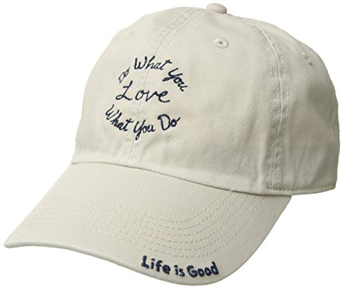 Life is Good Chill Cap Baseball Hat Collection,DWYL,Bone