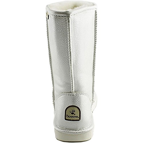 Short Boot Metallic Snow BEARPAW Women's White Emma qxgEawB