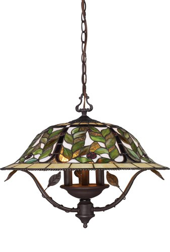 Elk 08016-Tbh Latham 3-Light Chandelier, 19-Inch, Tiffany Bronze With Highlight