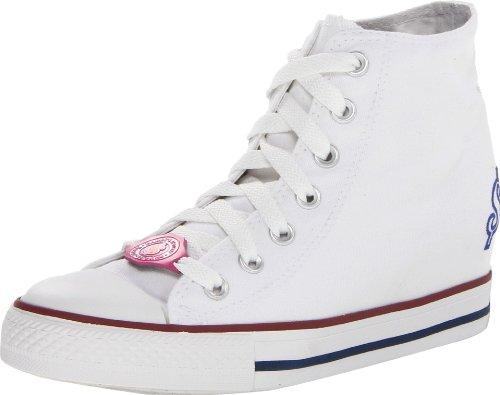 BOBS from Skechers Women's Gimme-Milk Money Fashion Sneaker,White,9 M US