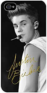 Zheng caseJustin Beiber - Signature - Hard White Plastic Snap - On Case-Apple Iphone 6 Only - Great Quality!