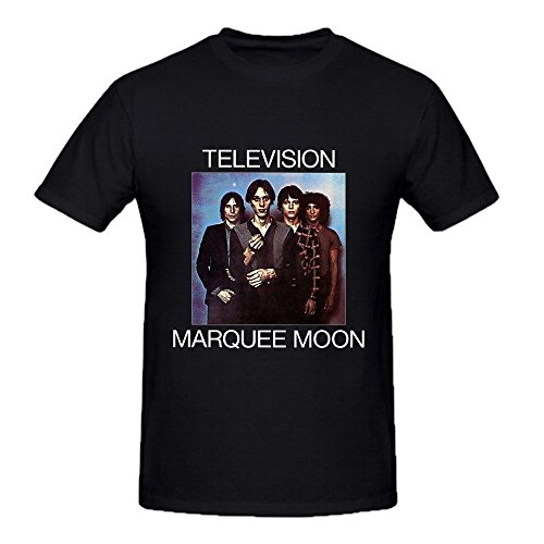 Television Marquee Moon Funny Tee Shirts for Men Crew Neck Black