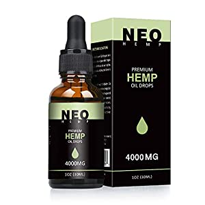 NeoHemp Hemp Oil Drops 4000mg | 30ml, Vegan & Vegetarian Friendly – Mirror Recommended