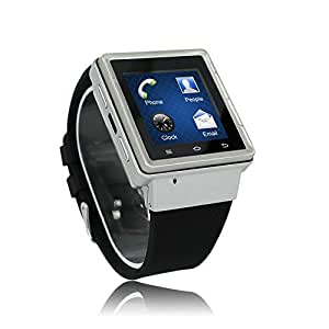 TOOY 3G WCDM Android Smart Watch Capacitive Touch Screen, Resolition:240*240 MTK6577--Dual Core 1.2GHz RAM 512MB ROM 4GB Wireless Bluetooth Smart Watch (silver)