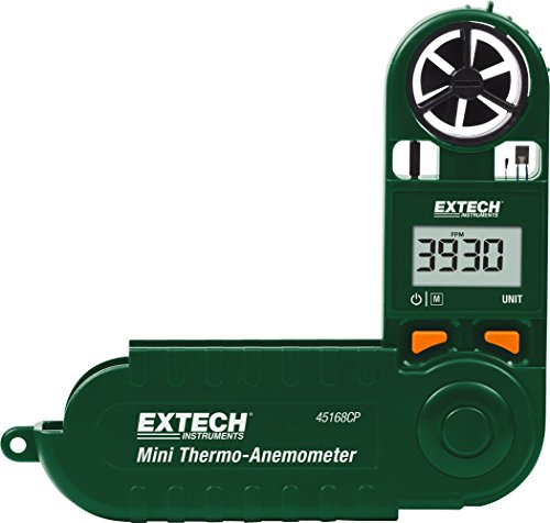Extech 45168CP Mini Thermo-Anemometer with Built-in Compass by Extech