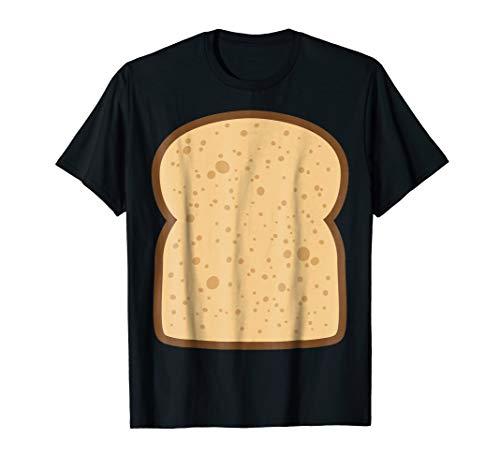 Mens Sliced Bread Toast Matching Shirts DIY Halloween Costume Large Black