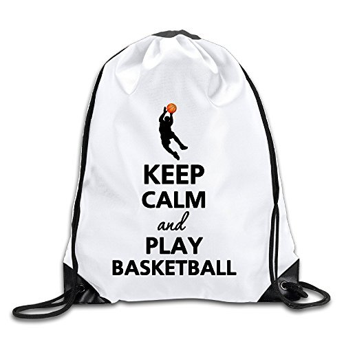 Hunson - Novetly Keep Calm And Play Basketball Training Gymsack Gym Bag For Men & Women Sackpack