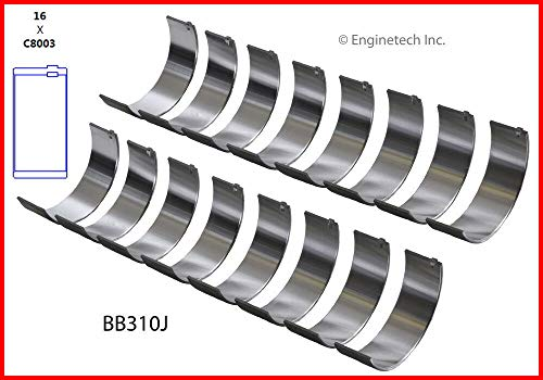 (Enginetech BB310J.25 Rod BRNG GM CAD 4.6L 281 Northstar)
