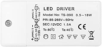 GU5.3 15W Riuty LED Driver Power G4 MR16 AC 85-265V a DC 12V SMD LED Transformador de alimentaci/ón para LED Strip Light y MR11