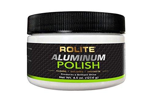 Rolite Aluminum Polish (4.5oz) for All Aluminum & Bare Metal Surfaces - Canoes, Jon Boats, Pontoons, RVs, Diamond Plate, Aluminum Non-Coated Wheels