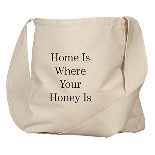 Home Is Where Your Honey Is Organic Cotton Canvas Market Bag Tote -