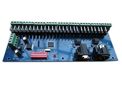 27 CHANNEL 9 GROUP DMX512 XLR Dimmer LED Driver Controller / Decoder ...
