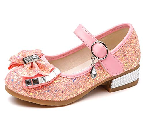 - Little Girl's Mary Jane Flats Sparkle Princess Wedding Party Dress Shoes Low Heel Ballerina Shoes