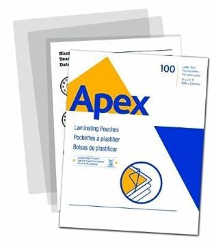 Amazon.com : Apex Standard Laminating Pouches, Letter Size ...