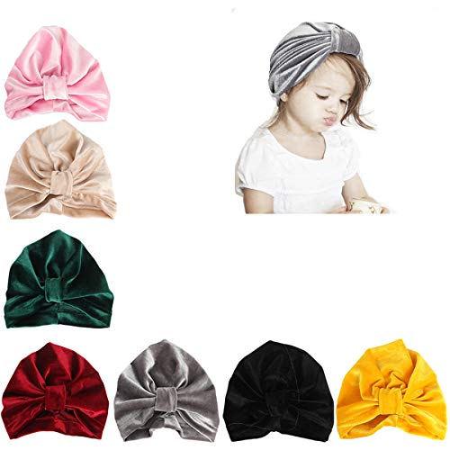 - Udobuy7 Pcs Headband Updated Version Baby Hat- Newborn Baby Girl Soft Cute Turban Knot Turban Hospital Hat Newborn Hats