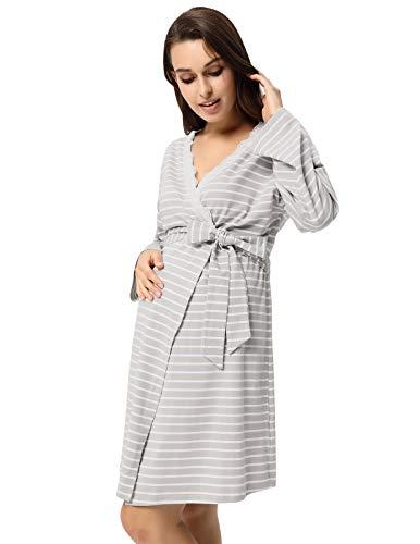 GRACE KARIN Camisón de Lactancia Maternidad de Noche Vestido Mujeres Embarazadas Ropa de Dormir Premamá Bata: Amazon.es: Ropa y accesorios