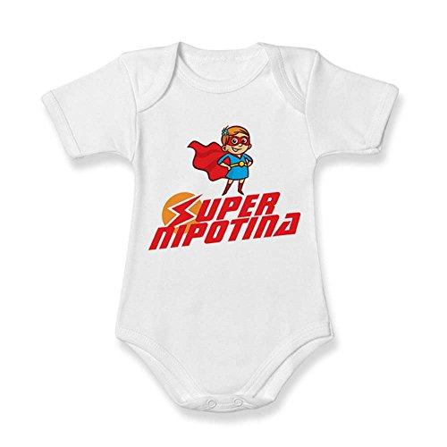 Body Regalo Dei Festa Bodino Super Neonato Nipotina Nonni Idea Nipote Femminuccia S7qwS4r