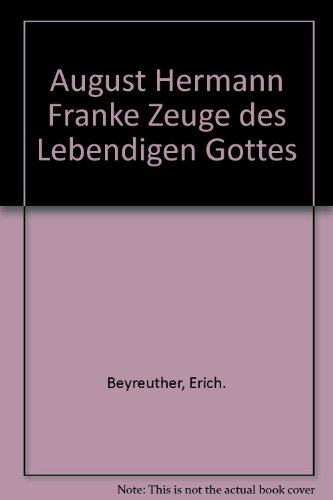 August Hermann Francke von Wolfgang Bühne