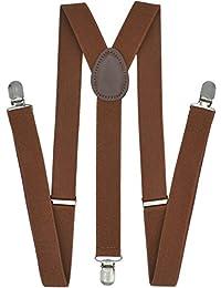 Trilece - Tirantes para hombre con pajarita para niños y mujeres adultos, ajustables, elásticos y estilo de espalda
