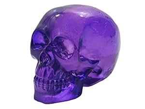 Clear Purple Skull Head Shift Knob / Decor