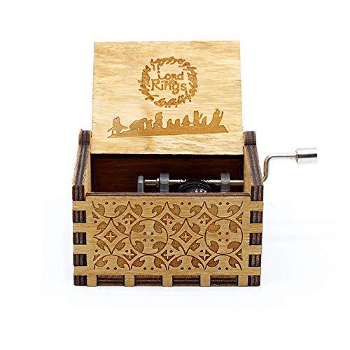 VDV Music Box - Antique Engraving Star Wars Music Box Game Throne Music Box Hand Crank Theme Music -