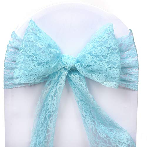 Mikash Lace Chair Sashes Bows Wedding Reception Party Dinner Fundraiser Decorations | Model WDDNGDCRTN - 7523 | 50 pcs -