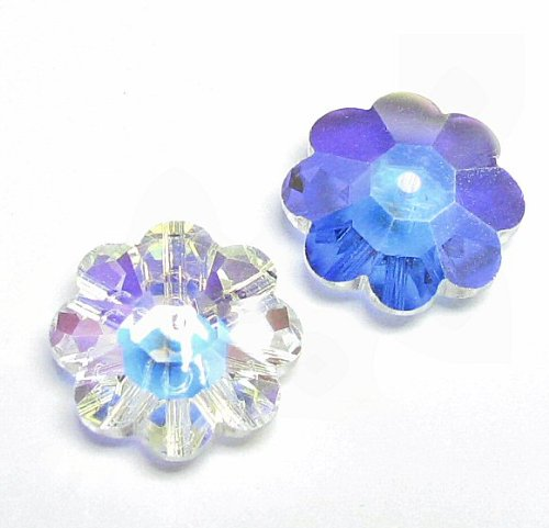 6 pcs Swarovski Crystal 3700 Margarita Beads Clear AB Unfoiled 8mm / Findings / Crystallized Element ()