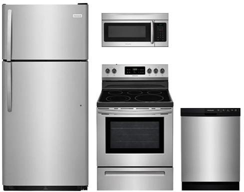 Frigidaire Frigidaire 4-Piece Stainless Steel Kitchen Package with FFTR1821TS 30