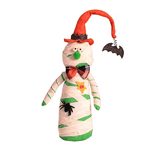 Misight Handmade Hanging Gnome for Halloween Decoration Stuffed Toy Witch Doll ()
