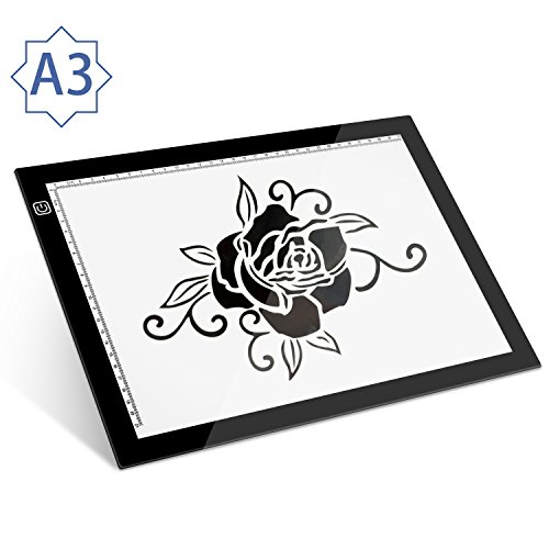 A3 LED Light Pad Box for Tracing - Seenda Ultra-thin LED Artcraft Tracing Light Table Drawing Pad for Artists, Drawing, Sketching, Weeding, Animation, Calligraphy